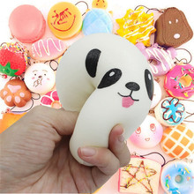 10Pcs30 Pcs Squishy Slow Rising Adorable Bread Cake Bun Pendant Donut Charm Squishies Toy Squeeze Toys,Stress Relief Toy