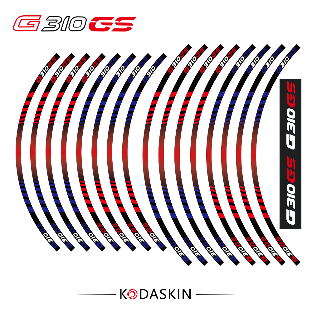 KODASKIN G310GS Motorcycle Wheel Decals 12rim Stickers Set for BMW G310 GS G310GS 19 39 39 17 39 39 Stripes in Car Stickers from Automobiles amp Motorcycles