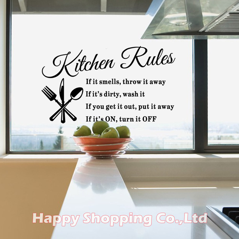 online get cheap western wall decor aliexpress com alibaba group 1pc 60 35cm kitchen rules english quote art wall decals self adhesive western dining room decorative stickers for windows