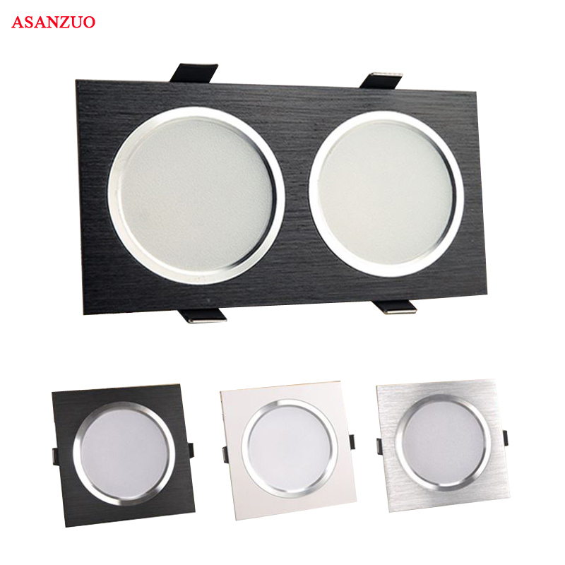 LED Downlights 7W 14W AC85-265V Square silver Black White LED Ceiling Lamp Down Light for Kitchen Home Office Indoor Lighting image