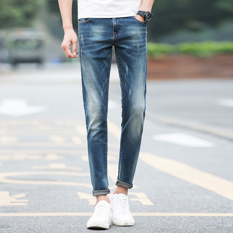 High Quality Recommend Mens Blue Jeans Denim Pants Regular Fit Jeans Men New Famous Brand Jeans With Logo Plus Size 2017 slim fit jeans men new famous brand superably jeans ripped denim trousers high quality mens jeans with logo ue237