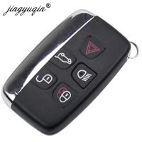 Jinyuqin Smart Remote Key Keyless Shell Fob Voor Jaguar Xe Xfl Xj Xjl Xf C-X16 V12 Gitaar F X Typ 5 Knoppen Key Case