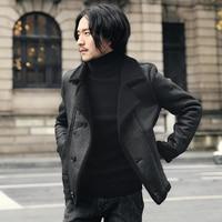 Short Motor Biker Coat Men Fur Suede Jacket Men Faux Leather Jacket Men Buttton Slim Winter Coat Men Black Brown 5xl
