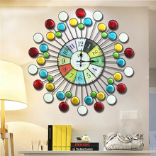 Kingart 70 cm Big Circular Wall Clock Brief Living Room Wall Plaque Large Wall Hanging Clock For Wedding Home Decoration