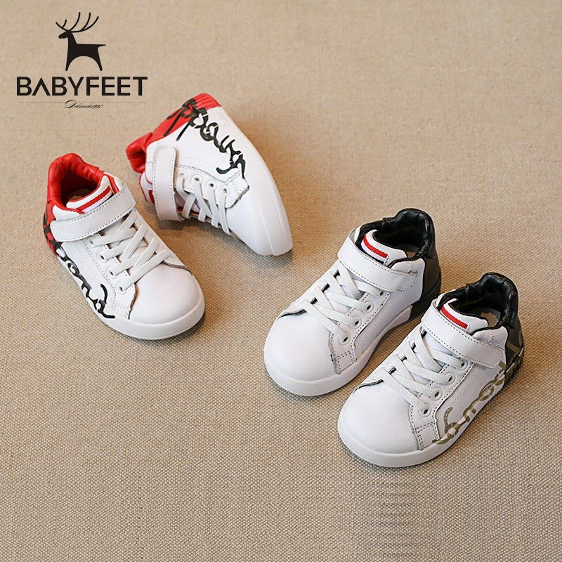Babyfeet Children kids shoes PU Leather baby Boys girls sneakers shoes tenis infantil chaussure enfant garcon calzado infantil kids shoes girls boys pu leather lace up high children sneakers girl baby shoes sport autumn winter children shoes