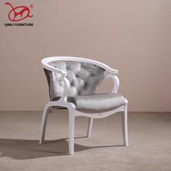 NoEnName_Null Ретро Элегантный белый твердой древесины кресла подходит для гостиной хорошее качество стулья античной деревянной мебели