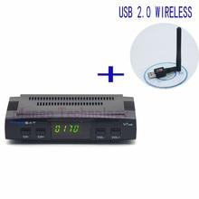 2016 New Freesat V7 HD Satellite Receiver Full 1080P +1PC USB WiFi DVB-S2 HD Support Ccam powervu youpron set top box power