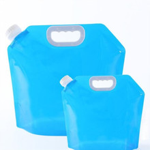 Новая Складная полиэтиленовая сумка для воды безвкусное безопасное уплотнение портативный контейнер для питьевой воды сумка для хранения выживания для кемпинга пеших прогулок 3 размера