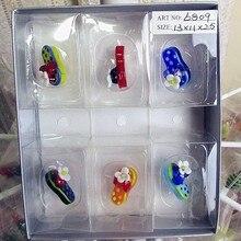 Munuola custom color glass slipper shape sculpture high quality hand blown toy model decoration Home Furnishing Ornament Set