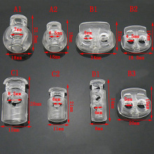 5 шт. фиксатор шнура пластиковый фиксатор конец шнура тумблер зажим Пряжка прозрачный Мороз шнурки спортивная одежда DIY сумка Запчасти Аксессуары
