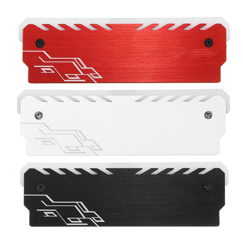 Алюминий сплав RGB памяти охлаждения жилет Оперативная память охлаждения В виде ракушки радиатора RGB 265 световой эффект памяти coolingi радиатор ...