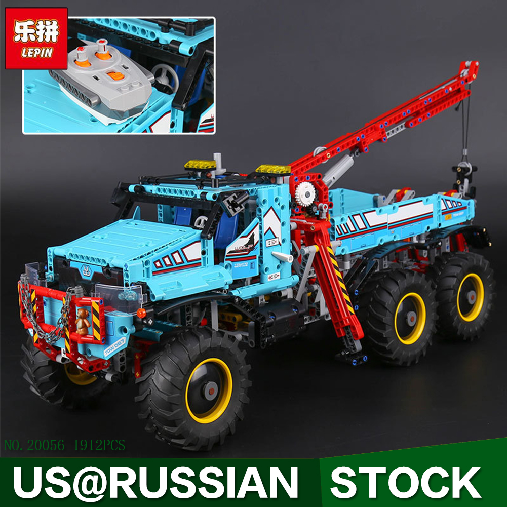 Lepin 20056 1912Pcs Technic Series The Ultimate All Terrain 6X6 Remote Control Truck Set Building Blocks Bricks Toys Model 42070 lepin 20054 4237pcs the moc technic series the remote control t1 classic volkswagen camper set 10220 building blocks bricks toys