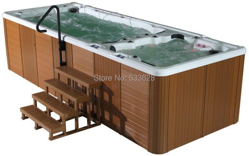 Aliexpress.com : Buy Swimming pool hot tub combo swim spa 5.8 meters ...