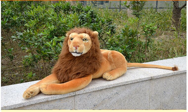 new lovely plush lion toy stuffed simulation lying lion doll lion gift about 60cm 0551 stuffed animal 110cm plush tiger toy about 43 inch simulation tiger doll great gift free shipping w018