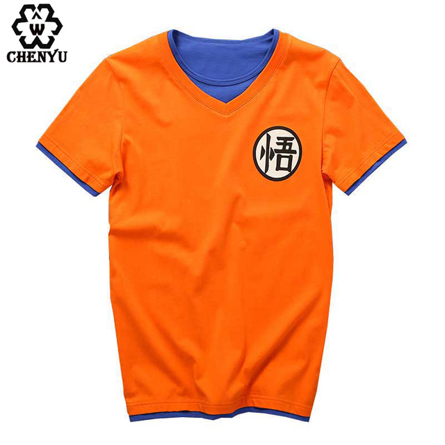New Dragonball Z Son Goku Cosplay Summer Short Sleeve T-shirt Cotton Tops Tee Shirts Halloween Costume dragon ball t shirt M-5XL