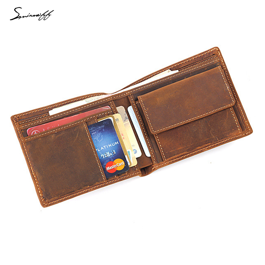 High Quality Genuine leather Wallet men short purse small coin pocket card holder business men custom name wallet gifts цена 2017