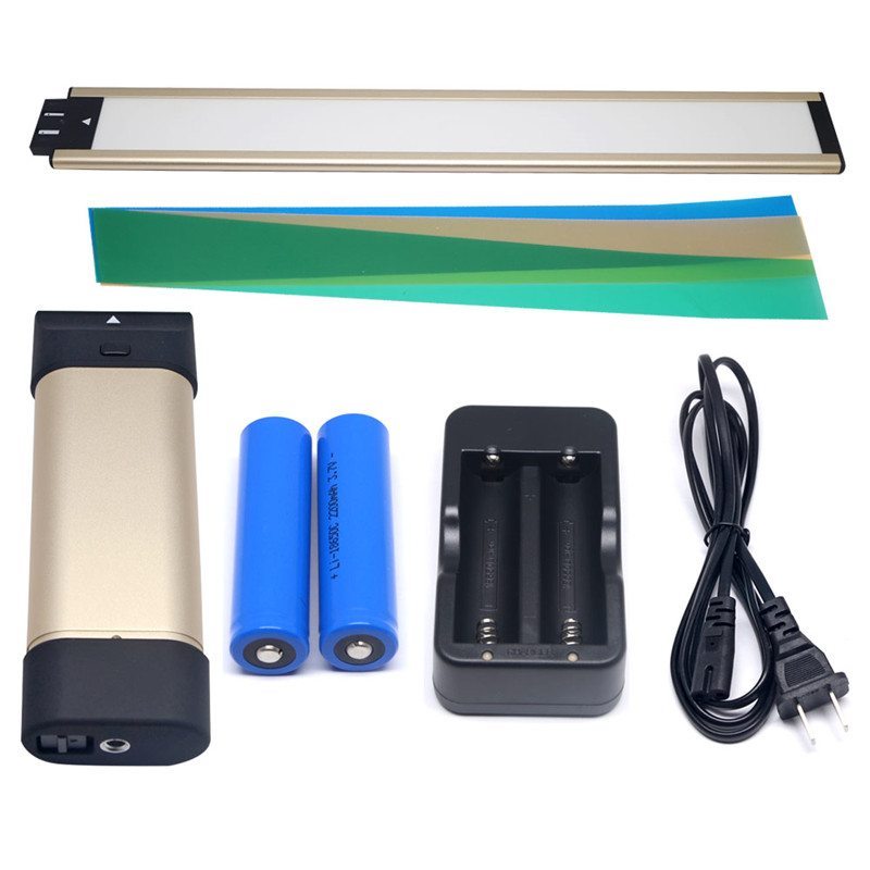 Mcoplus Air-L2S Professional Led Video Light Portable Handheld Lighting with 2pcs Li-ion Battery for Photography as Ice Light
