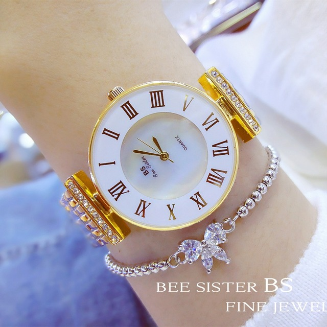 bling gold rhinestone austrian brand item women shinning luxury crystal sparkly arrival famous crystals watch rose watches stylish diomand
