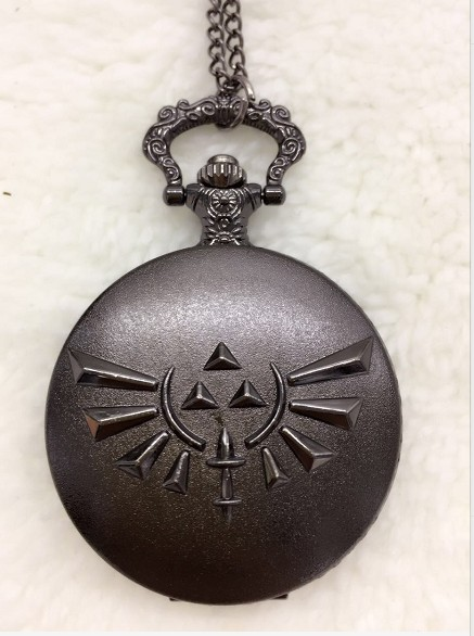 20pca Cool The Legend Of Zelda Black Quartz Pocket Watch Analog Pendant Necklace For Men Womens Watches Chain Steampunk Gift
