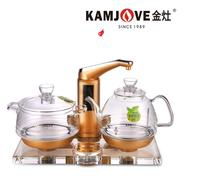 KAMJOVE thickening glass electric kettle boil tea health Intelligence Colorful crystal glass electric tea stove