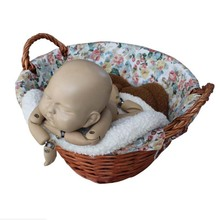 Новорожденный ребенок Фотография позирует коробочка с подушкой наполнитель фото реквизит Подушка малыш помощник одеяло 36x36 см