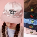 Summer Candy Color Vintage Letters Fruits Embroidery Baseball Cap Women's Hiphop Hats