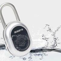 Smart Keyless Lock Waterproof APP Button Password Unlock Anti-Theft Padlock Door Lock for Android iOS System