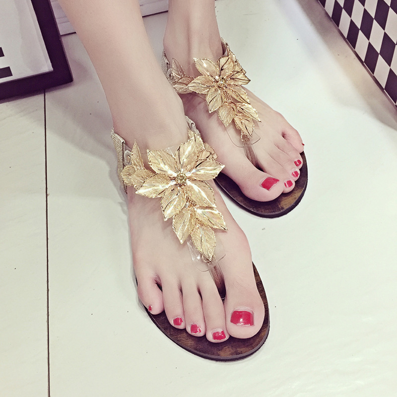 2016 Ladies Summer Flowers Sandals Retro Explosion