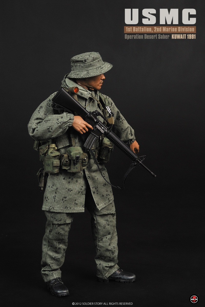 1/6 scale Military figure doll USMC Desert Saber action 1991 12 Action figure doll Collectible Figure Plastic Model Toys the monster next door