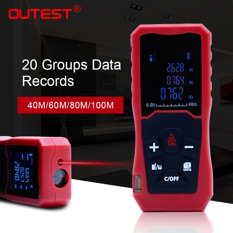 OUTEST 40m 60M 100M laser rangefinder digital laser distance meter laser Roulette ruler trena tape measure range finder tools шарнир карданный ударный 1 117 мм hans 88201b