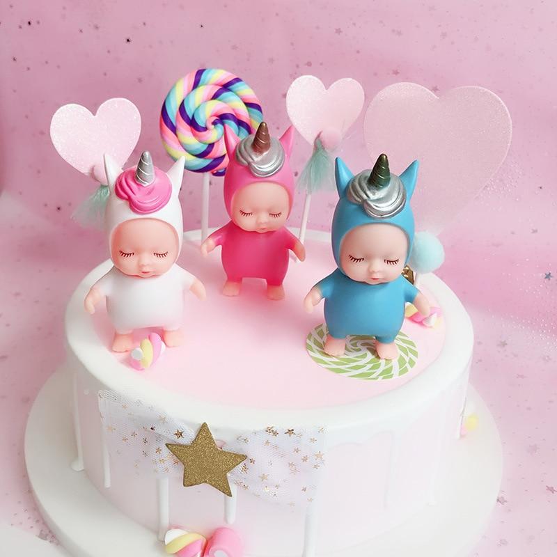 Groovy New Unicorn 9Cm Playmate Cute Creative Sleeping Baby Doll Style Funny Birthday Cards Online Eattedamsfinfo