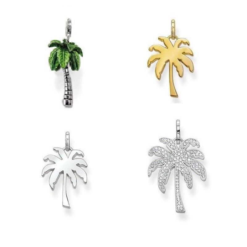 bdaad04e2119 Cheap Plata esterlina 925 Palm árbol de coco Glam colgantes ajuste cadena  collares joyería europea del