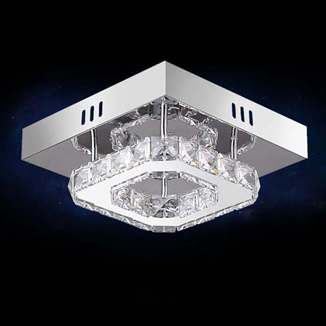 2017 New Arrival Modern Led Crystal Chandelier Diamond Cool White Guaranteed100 Aisle