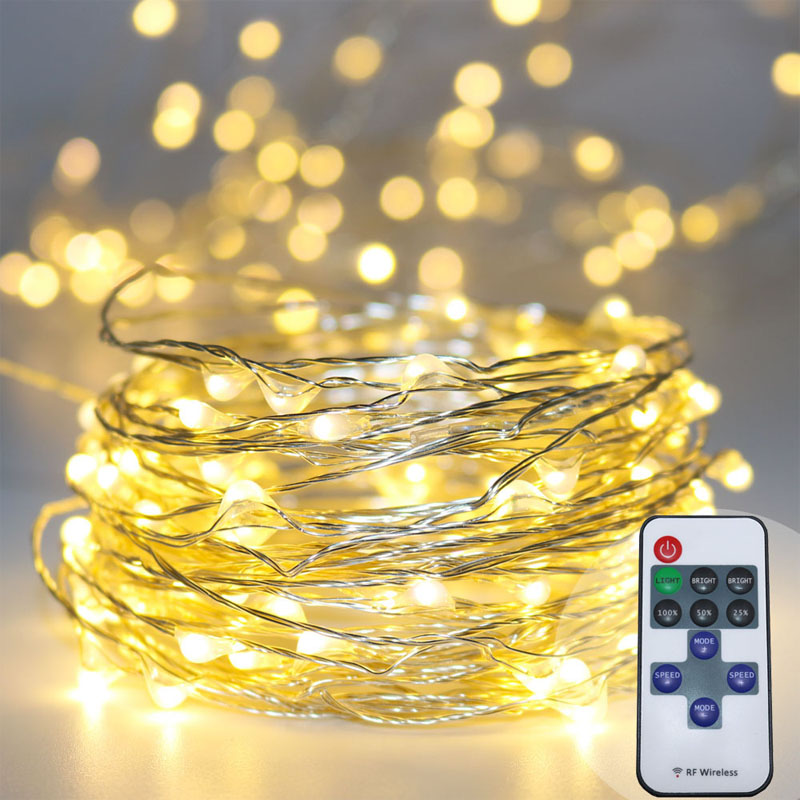 Aliexpress Buy 33ft Rf 10m 100led Remote Control Dimmable