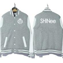 kpop Korea music group shinee logo coat jacket baseball uniform hoodie 3 colors good quality