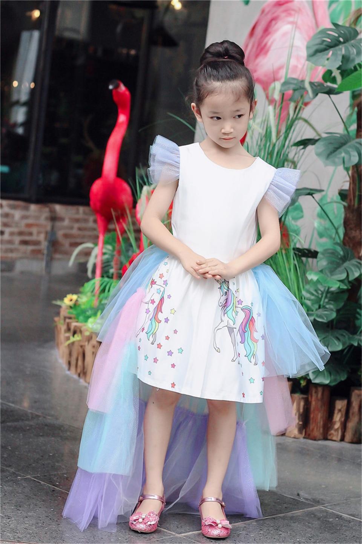 HTB1 OZSb21G3KVjSZFkq6yK4XXa3 Christmas Fluffy Girl Princess Unicorn Dress Gorgeous Backless Long Tail Wedding Dress Kids  Halloween Unicorn Cosplay Costume