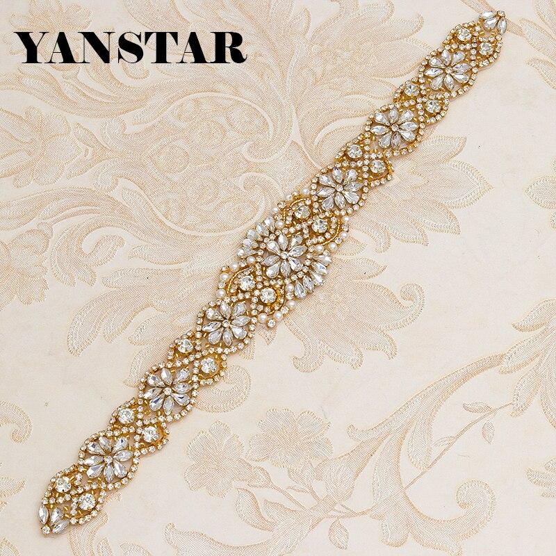 Kristall Gürtel Braut Hochzeit Kleider Applikationen mit Strass und Perlen