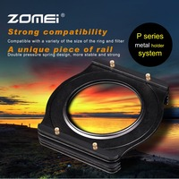 Zomei 49/52/55/58/62/67/72/77/82mm Adapter Ring+Alu-Metal Square 3-Slot Filter Holder Support Kit for Cokin P Series 83mm Filter
