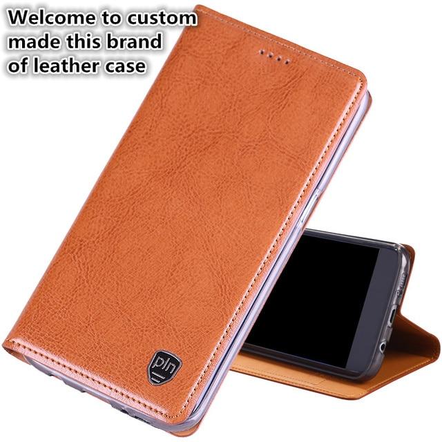 quality design 86d88 25c0c JC01 Genuine Leather Magnetic Stand Flip Cover For LG V30 Phone Case For LG  V30 Flip Case Free Shipping
