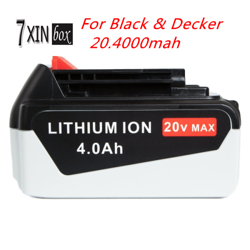 20V 4000mAh Li ion Power Tool Replacement Battery for BLACK DECKER LBX20 LBXR20 OPE LB2X4020