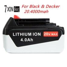 20 В 4000 мАч Li-Ion Замена Мощный Инструмент Батареи для ЧЕРНЫХ & DECKER LBX20 LBXR20-OPE LB2X4020-OPE BDCDMT120 CHH2220 EPL188KB