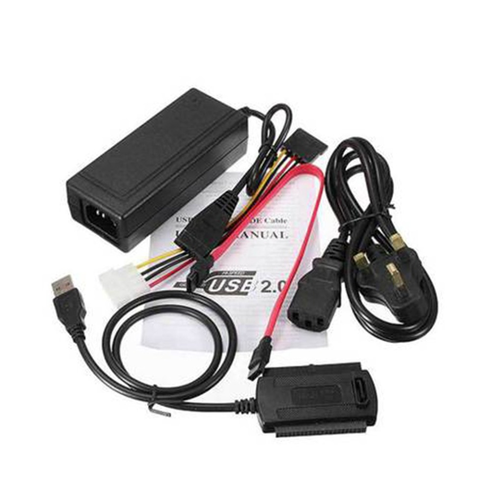USB 2.0 To SATA IDE Cable Converter Adapter Hard Drive External HDD Cable