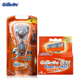 Gillette Fusion Power Electric Shaving Razor Blades For Men 1 Razor Handle+5 Blades Shave Shaver Shaving Blades Shaving Razor