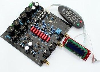 Luxury Remote control AK4497EQ *2 + AK4118 soft control DAC decoder board LCD display
