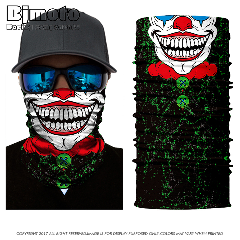 Men women Scarves Skull Wicking Seamless Washouts Scarf Fashion Outdoor Ride Bandanas Sport Face mask Motorcycle bike Scarf