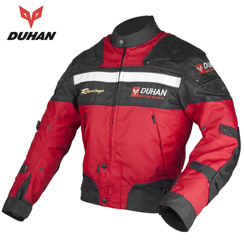 DUHAN Motorcycle racing jackets Body Armor Protective Moto Jacket Motocross Off-Road Dirt Bike Riding Windproof Jaqueta Clothing herobiker black motorcycle racing body armor protective jacket gears short pants motorcycle knee protector moto gloves