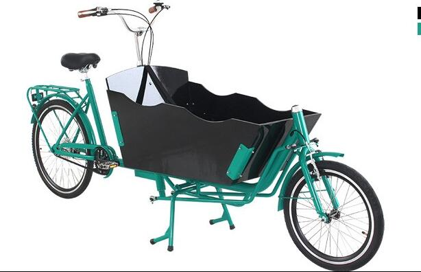 Front Loading Electric Cargo Bike 2 Wheel With 250w Motor With Wooden Box