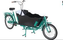 Frente de carregamento de carga elétrica bicicleta 2 roda com motor de 250 w com caixa de madeira