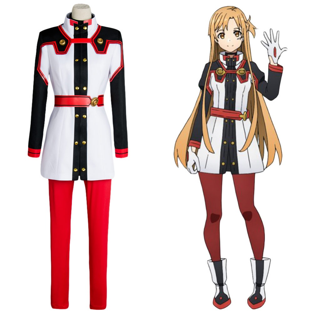 Sword Art Online SAO the Movie Ordinal Scale OS Asuna Yuuki/Yuki Cosplay Costume Halloween Carnival Women Full Set
