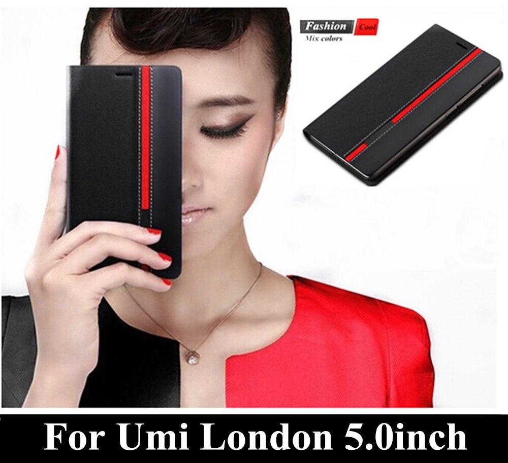 Luxe de Couverture De Téléphone Pour Umi Londres 5.0 pouces Mode Mixte  Couleur Filp Portefeuille Style Top En Cuir Cas Stand Avec Carte Slot 4a16154de35